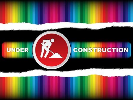 spoil: under construction banner Illustration
