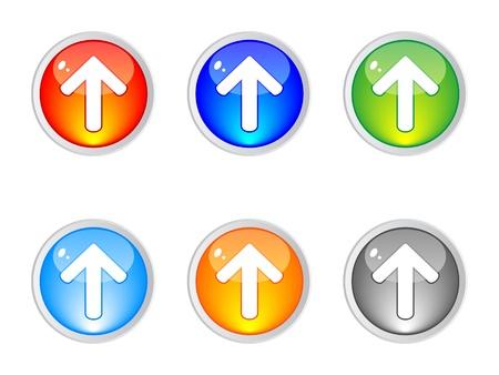 upload buttons vector illustration