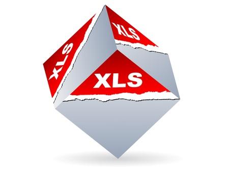 xls: Extension of .xls files vector illustration Illustration