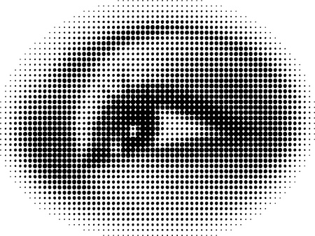 doted: Doted eye vecotr illustration