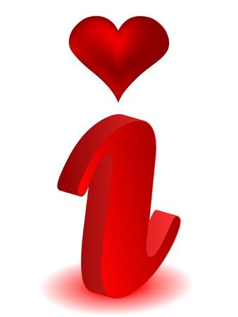 informer: Modern web button - information about love