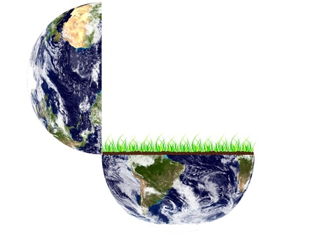Open earth image Vector