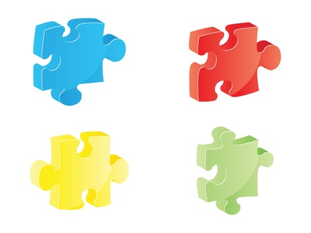 shiny puzzle piece vector illustration