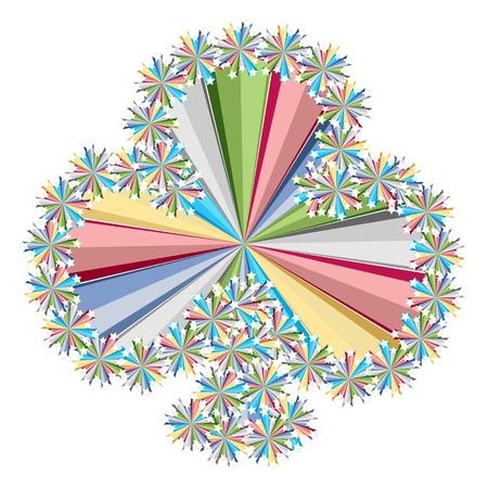 clovert colorful stars pattern Vector