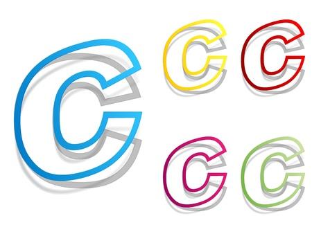 letter c Stock Vector - 10797608