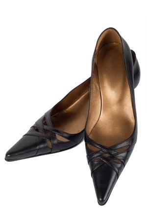 zapatos negros mujer Foto de archivo - 10797700