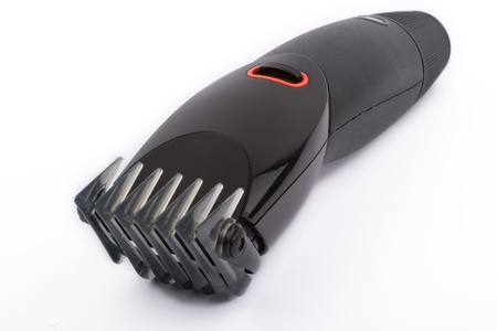 electric trimmer: close up on hair clippers