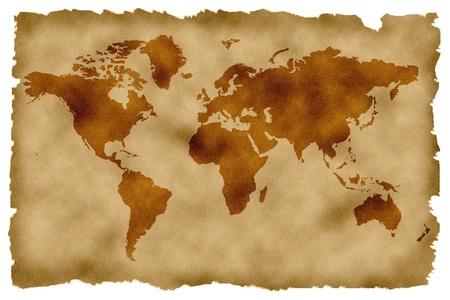 localization: historic world map high quality