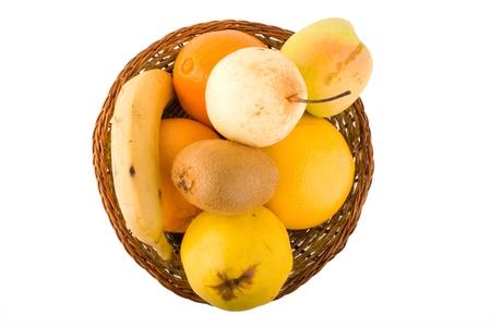 Fresh fruits in a wum bowl photo