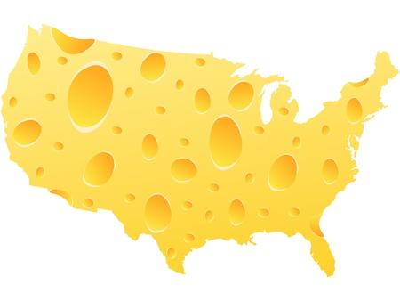parmigiano: americano mappa fatta di formaggio