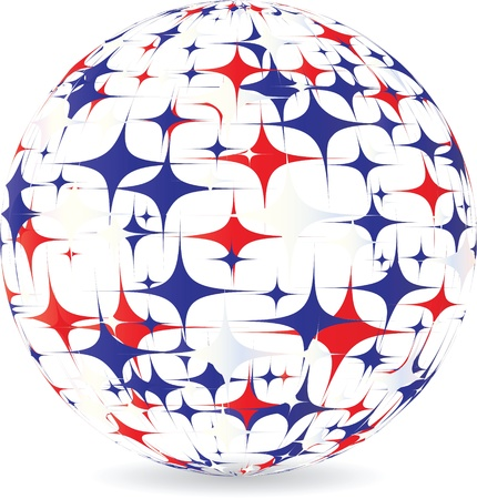 american ball made of stars Vector