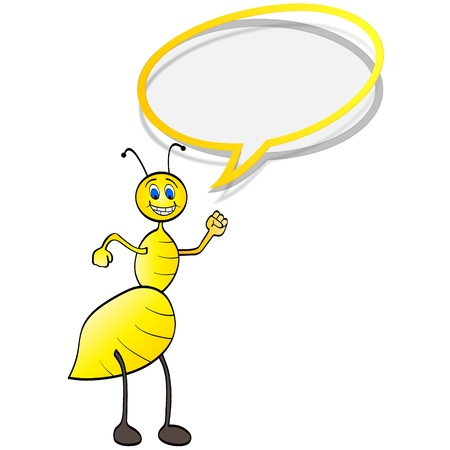 happy bee chatting Stock Vector - 10805503