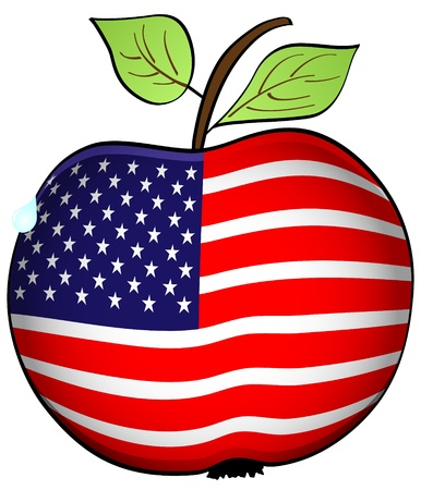 american apple Stock Vector - 10805488