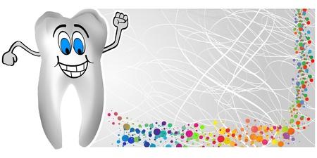 dent: happy tooth  Illustration