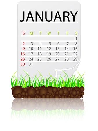 calendar january Stock Vector - 10806551