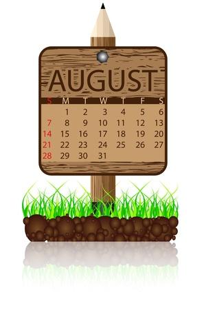 agosto: Calendario bandiera agosto