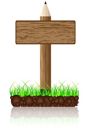 wooden banner Stock Vector - 10806591
