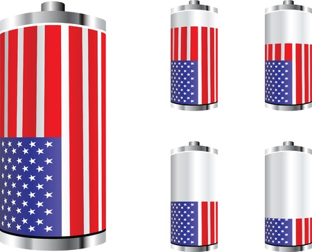 american battery Stock Vector - 10805483