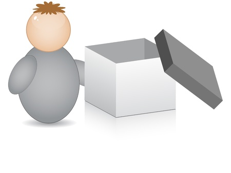 buddy with open box Vector