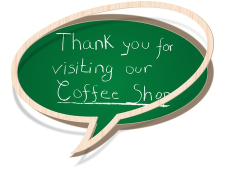 thank you for visiting our coffee shop Stock Vector - 10806473