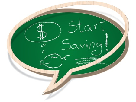 start saving  Stock Vector - 10806426