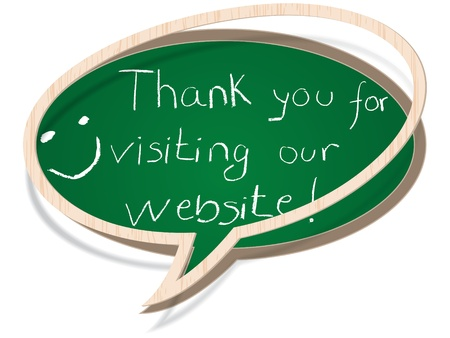 thank you for visiting our website Stock Vector - 10806482