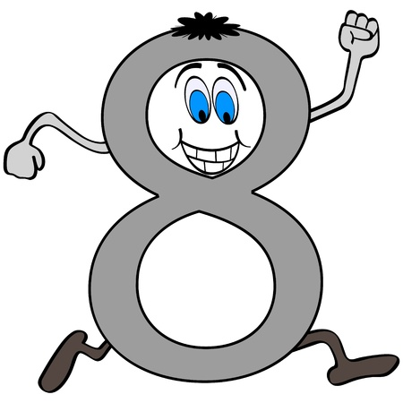 eight note: number eight Illustration