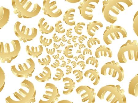 dinero euros: fondo de oro euro Vectores
