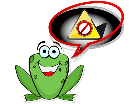 forbidden frog Vector