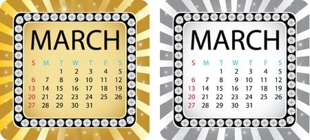calendar march Stock Vector - 10805740