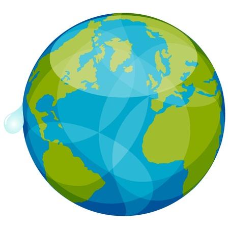 blue earth Vector