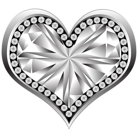 crystal heart  Illustration