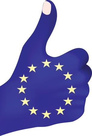 european hand giving ok  Stock Vector - 10805871