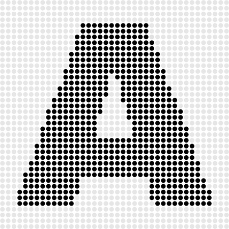 letter a dots pattern Stock Vector - 10805826