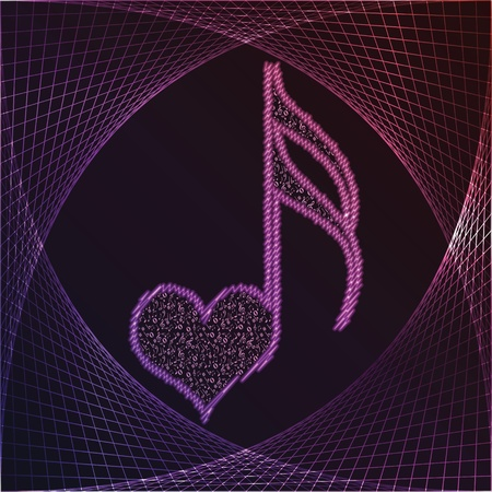 musical love key  Vector