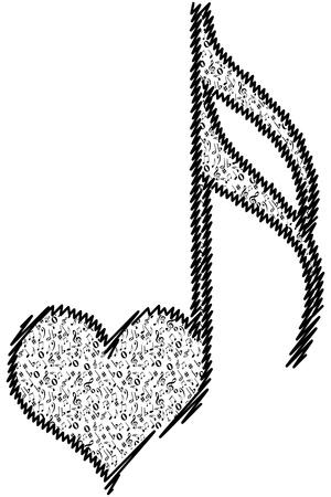 musical love key Stock Vector - 10805961
