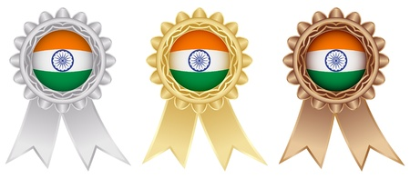 indian medal labels Vector