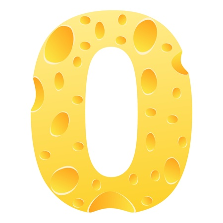 parmesan cheese: number zero Illustration