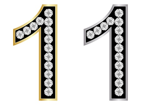 number one Stock Vector - 10805861