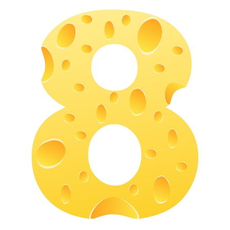 parmesan cheese: number eight Illustration