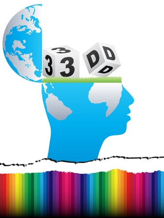 open mind thinking to 3d Vector