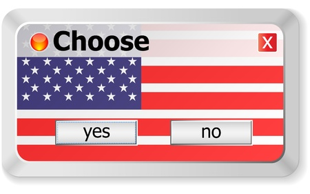yes or no choose  Vector