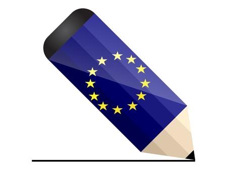 유럽의: 유럽 연필 일러스트
