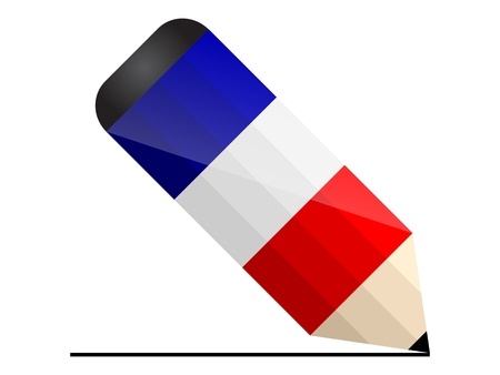 french pencil Illustration