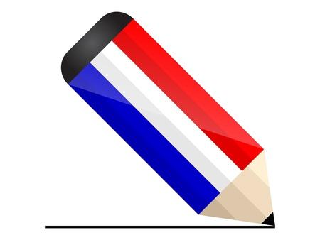 holland pencil Stock Vector - 10806206