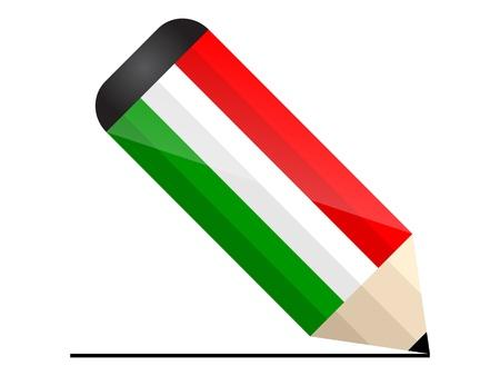 poet: hungarian pencil Illustration