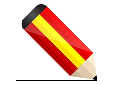 spain pencil Stock Vector - 10806210