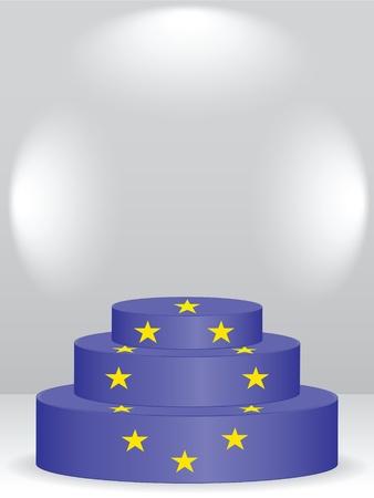 european podium Vector