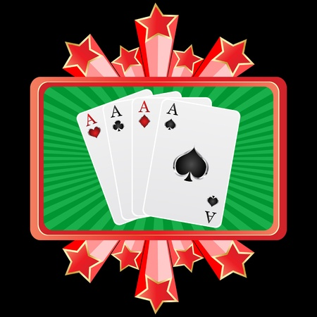 poker banner aces Stock Vector - 10806137