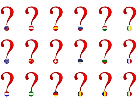question sign with world flags Stock Vector - 10806034